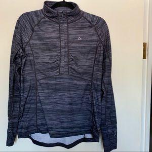 Merino Wool Blend 3/4 zip top